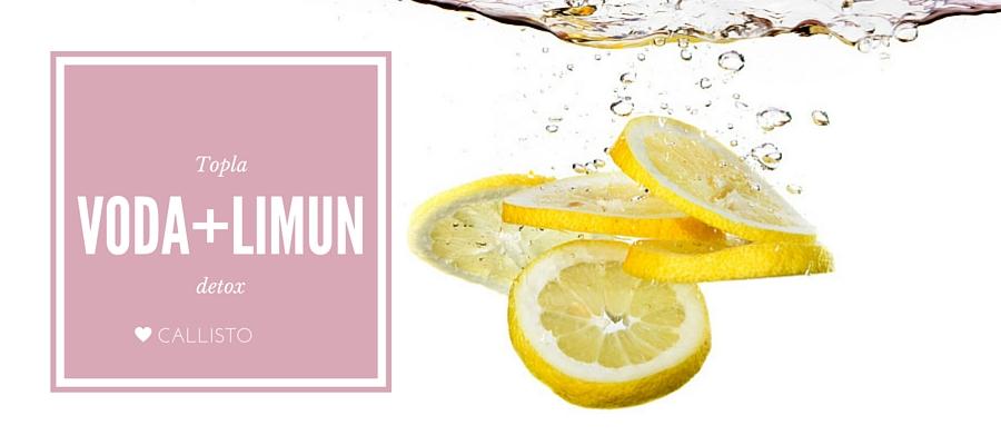 Topla voda + limun = detox!